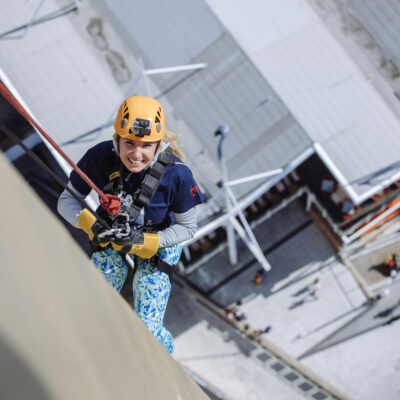 Abseiling the Tower