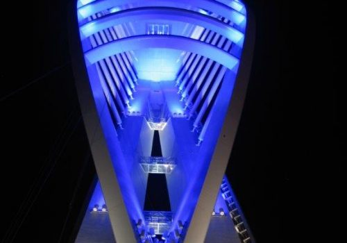 Emirates Spinnaker Tower goes Blue in support for WaterAid on World Water Day
