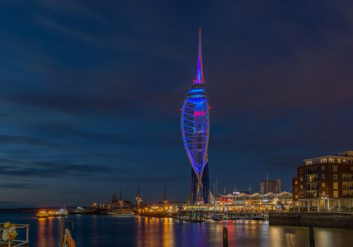 Pirate Sebbie lights up Emirates Spinnaker Tower to  'summon the pirates' on World Wish Day®