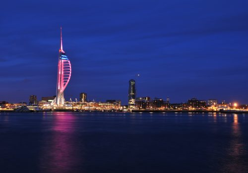 Emirates Spinnaker Tower looks pretty in pink to support Wear A Hat Day for Brain Tumour Research